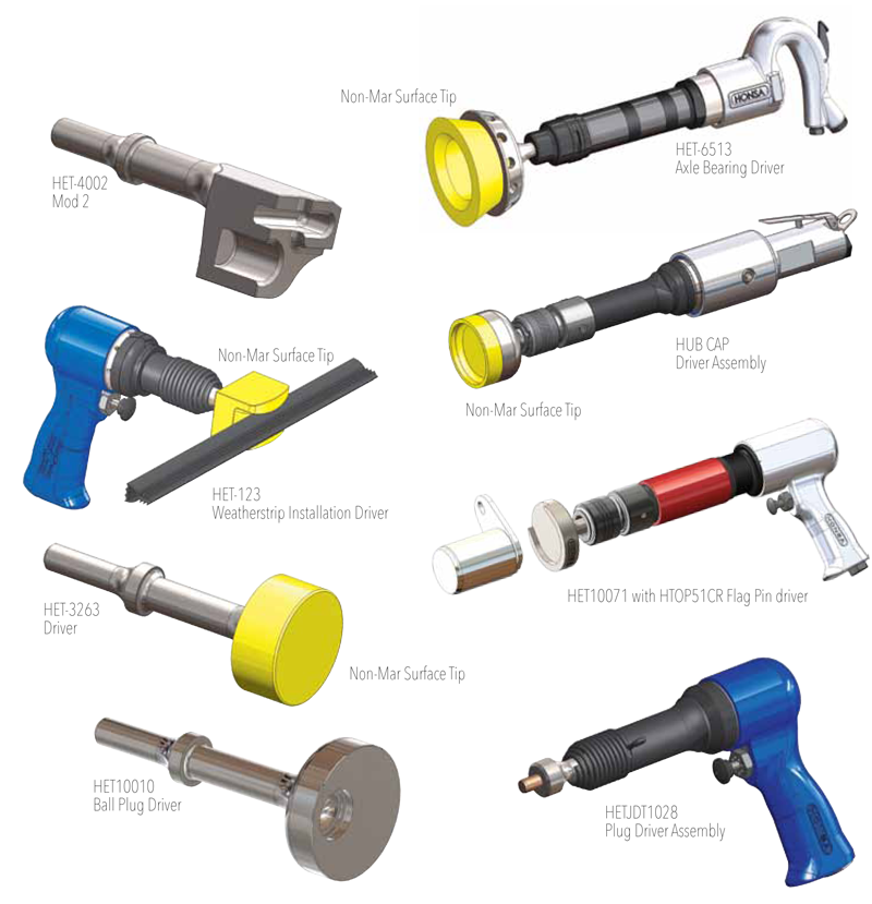 various tools by Honsa used to uniquely design and engineer solutions